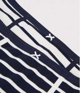 Dámské pruhované kalhotky vyšší střihu - 2 ks
