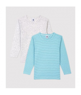 Chlapecká trička s dlouhým rukávem z bio bavlny - 2 ks